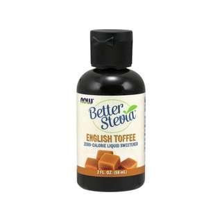 🚚 Now Foods, BetterStevia Liquid Sweetener, English Toffee, 2 fl oz (60 ml)