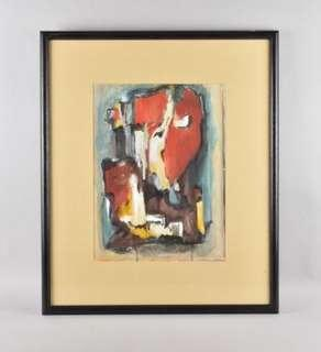 Abstract Composition on Paper; Mid-Century GermN work c. 1970s.