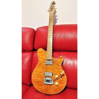 Musicman (Ernie Ball Music Man) Axis Super Sport Electric Guitar - Trans Gold Quilted Maple Top