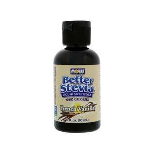 🚚 Now Foods, Better Stevia, Liquid Sweetener, French Vanilla, 2 fl oz (60 ml)