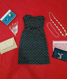 H&M Cocktail & Party Polka Dress