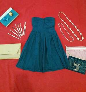 RUE 21 Cocktail & Party Blue Dress Padded