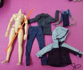 12吋 1/6 Female Action Figure Accessories 女性人偶衣服配件