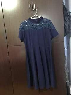 Cheongsam qipao navy blue