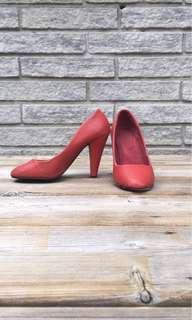 Red Stiletto Pumps Heels