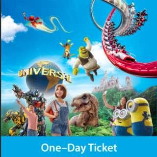 Clearance Sale--Universal Studios 1 Day Ticket- Everything must go