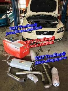 Volvo C70 T5 in the house to upgrade Jetex LTA approval catback system and Jetex Racing performance drop in air filter with 1.14 kpa flow rate together with Koni sport kit set