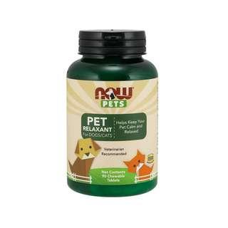 🚚 Now Foods, Pets, Pet Relaxant For Dogs/Cats, 90 Chewable Tablets