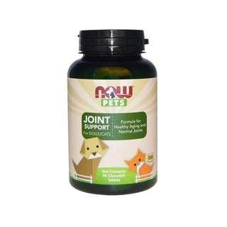 🚚 Now Foods, Pets, Joint Support for Dogs/Cats, 90 Chewable Tablets
