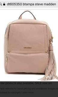 BNWT STEVE MADDEN btampa mini backpack blush pink
