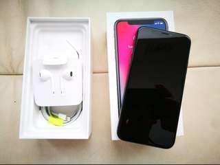 "Apple iPhone X 256 GB 5.8"" Space Gray Pristine Condition"