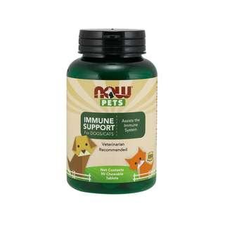 🚚 Now Foods, Pets, Immune Support, For Dogs/Cats, 90 Chewable Tablets