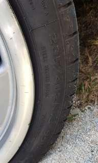 Used continental MC5 245/35/18 tires