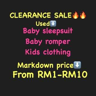 SALES‼️BABY ROMPERS/SLEEPSUIT AND KIDS CLOTHING ALL PRELOVED