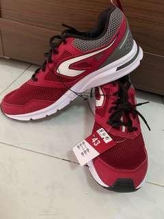 kalenji sports shoe (Red and Grey)