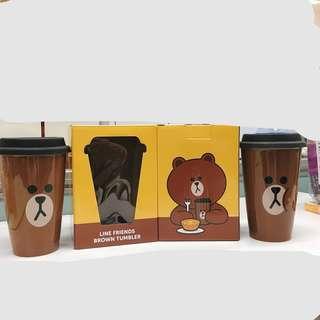 MC cafe x Line friends Brown Tumbler 陶瓷咖啡杯