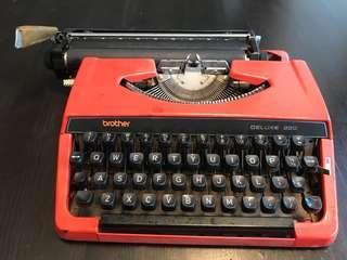 🚚 Brother牌打字机