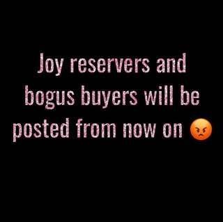 Joy bidders - better watch out! 😡