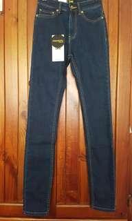 Lee blue denim jeans size 6 mid licks