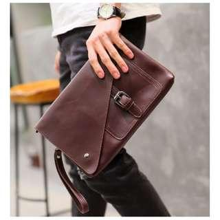 Duxton Leather Clutch Wallet Bag