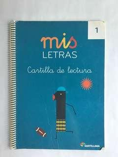 Mis letras Cartilla de lectura Spanish book