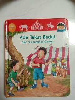 Buku bergambar anak  Ade Takut Badut