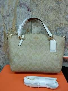 Coach small kelsey signature white