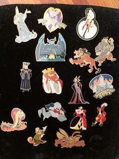 Disney villains pins