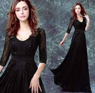 Black shinning Gown