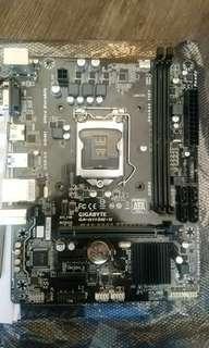 Gigabyte ga-h110m-h motherboard底板, for. intel 7 series