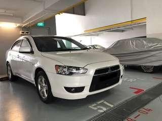 White Lancer EX for grab! $50-$55/day