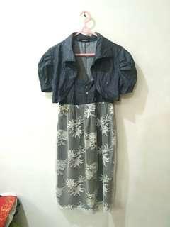 DRESS SET + OUTER / CARDIGAN