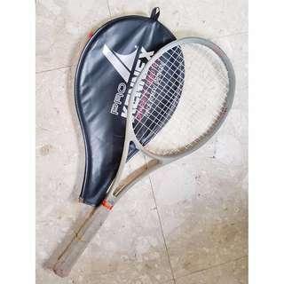 Pro Kennex Graphite Tribute 30 L4 4 1/2 Widebody Design Tennis Racquet Racket W/ Cover Gray And Neon Orange