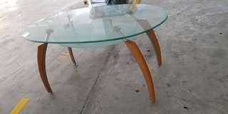 hope- glass top Dining Table