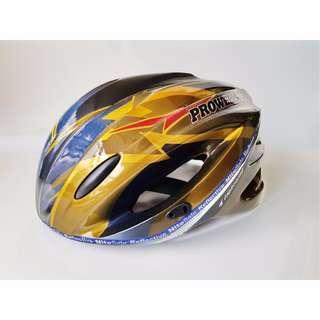 Prowell Helmet Size M Adult Nitesafe Locwell Adjustable Reflective Needs New Padding Inside blue gold
