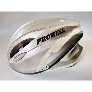 Prowell Helmet Size M Nitesafe Reflective Locwell Adjustable Children Kids Like New silver white