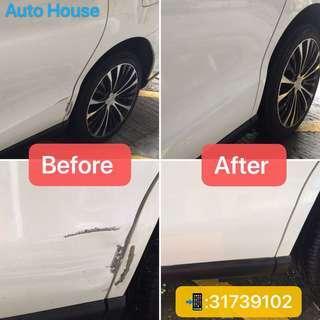 Toyota previa 左中門及沙板塑型及噴油翻新 預約服務請電:31739102 Auto House Service LtdHK