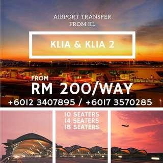 KLIA/KLIA2 Airport Transfer