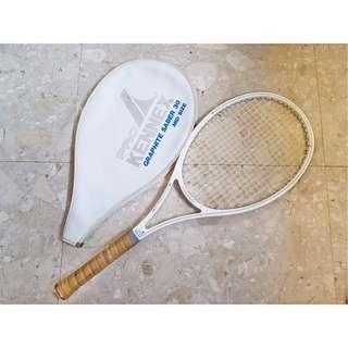 Kennex Graphite Saber 30 LIKE NEW Tennis Racket Racquet W/ Cover Mid Size Sl1 White Gray