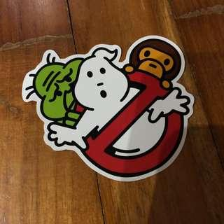 Pop Culture Luggage Laptop Misc Sticker Bape Bathing Ape Ghostbuster Slimer Stay Puft Collaboration Fashion