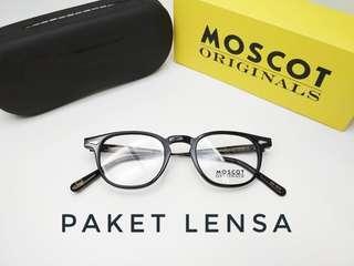 Paket lensa anti radiasi frame kacamata moscot genug