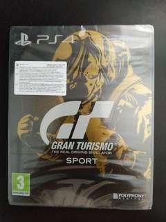PS4 Gran Turismo GT SPORT Steel Book Cover Edition (New)