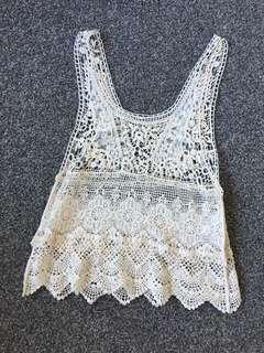 Crochet/lace style top