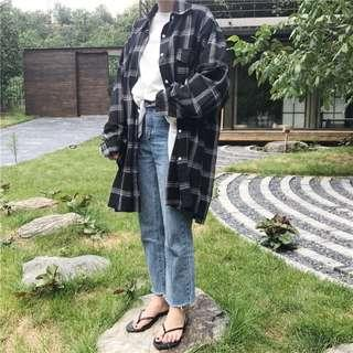 *reduced* oversized plaid