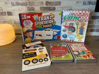 Moving Out Sales! ALL New Books/Puzzles/Flashcards