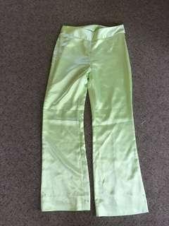 Silky green pants