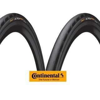 Continental Ultra Sport II Road Tyre 700x23C (Pair, New)