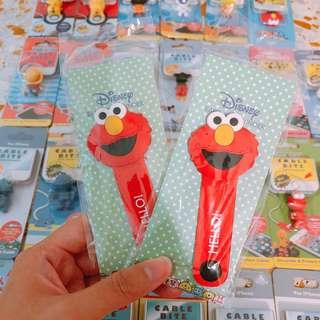 🚚 Instock Sesame Street Elmo Cable Tie IPhone Huawei Oppo