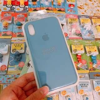 🚚 Instock IPhone X XS silicone blue colour cases