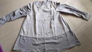 New baju Moshaict abu-putih.